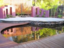 Finished resort garden